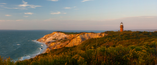 Beautiful view of a lighthouse on Marthals Vineyard